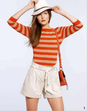 Description: 1. Top, $89.95, by Cue; belted shorts, $99.95, by Witchery; hat, $39.95, by Indy C; bag, $185, by The Redletter Club.