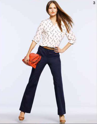 Description: 3. Shirt, $29, by Equipment; pants, $159, and bag, $199, both by Marcs; shoes, $139.95, by Windsor Smith; belt, $59.95, by Trenery.