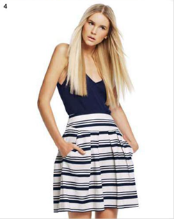 Description: 4. Singlet, $165, by Karla Spetic; skirt, $165, by Cue.