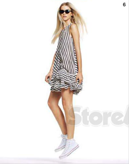 Description: 6. Dress, $149.95, by seed Heritage; sneakers, $90, by Converse; sunglasses, $39.95, by Mink Pink.