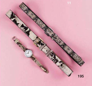 Description: 11. From left: Watch, $129, by Timex; belt, $79, by Saba; belt, $49.95, by Witchery.