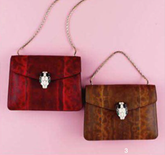 Description: 3. Bags, 2,550 each, by Bulgari.