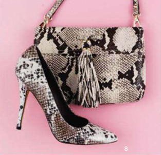 Description: 8. Shoes, $139.95, by Windsor Smith; bag, $199, by Saba.