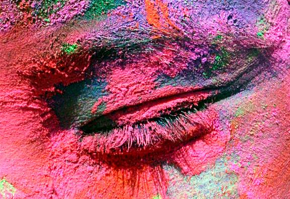 Description: The Hindu festival of Holi is celebrated in a riot of color in Mumbai.