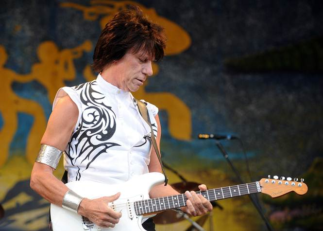 Description: Guitar hero, Jeff Beck, is one of the many acts performing at the iconic Jazz & Heritage Festival in New Orleans in April.