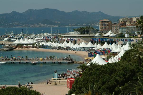 Description: Visitors lap up the glamour at Cannes International Film Festival in May.