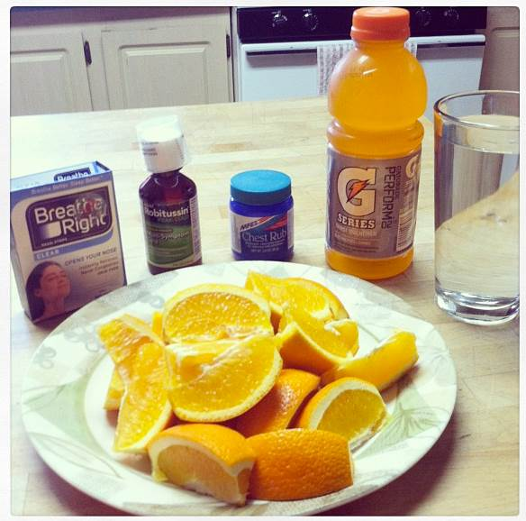 For the flu: Rest and drink fluids