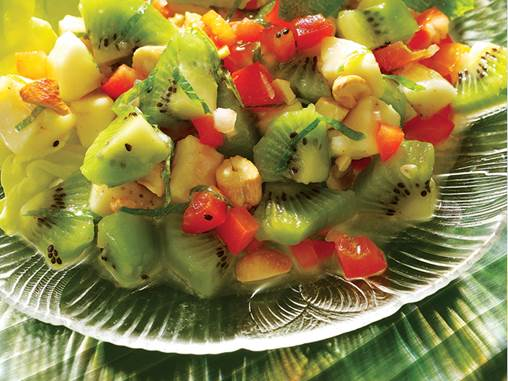 Kiwi salad is easy to do and tasty.