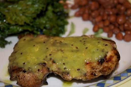 Grill kiwi chicken