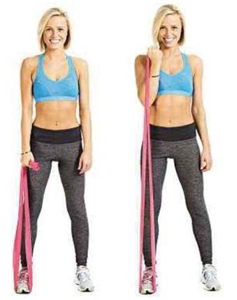 Single-arm resistance band curl