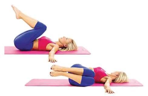 Revolved abdomen pose