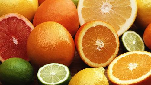 Citrus fruits are rich in vitamin C that helps improving the body's resistance.