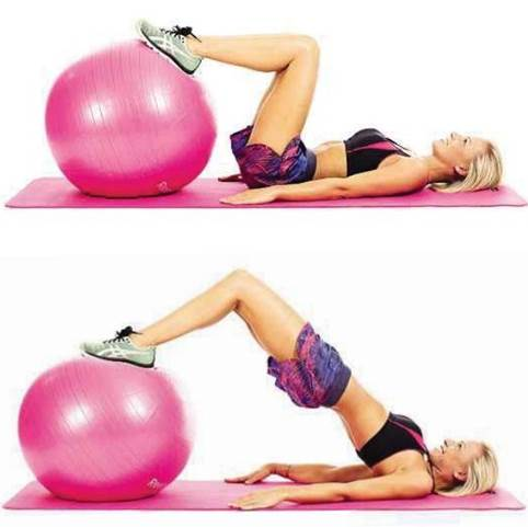 Areas trained: bottom, rear thighs, core
