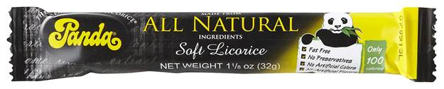 Panda licorice bars are not only made with natural ingredients