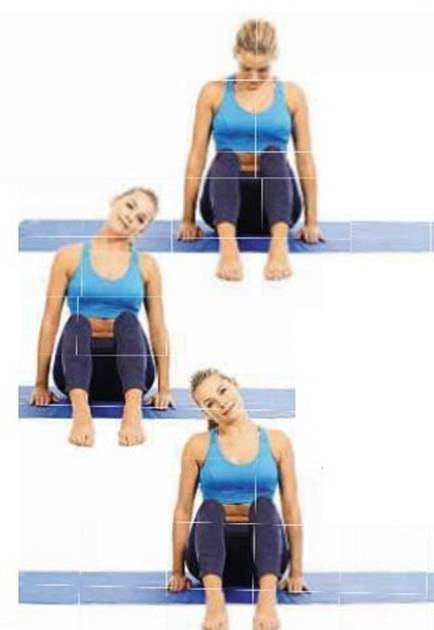 relieves tension in the neck and shoulders