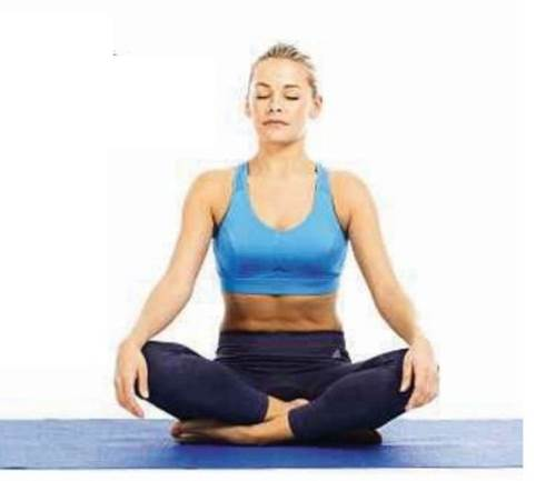 Meditation in a seated pose