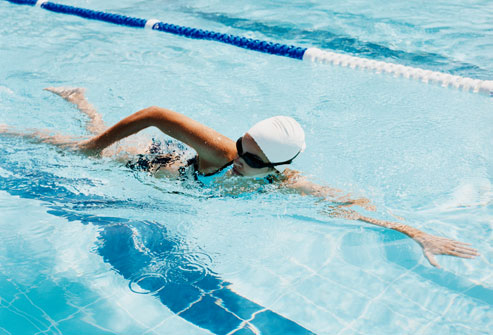 Focus on long and streamlined swimming.