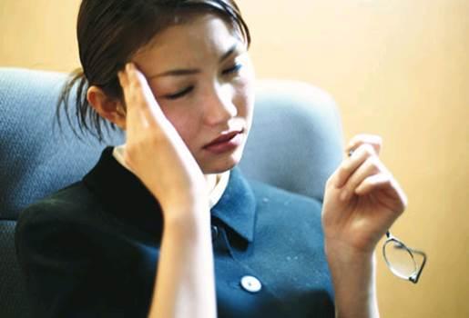 Working too hard can cause headache.