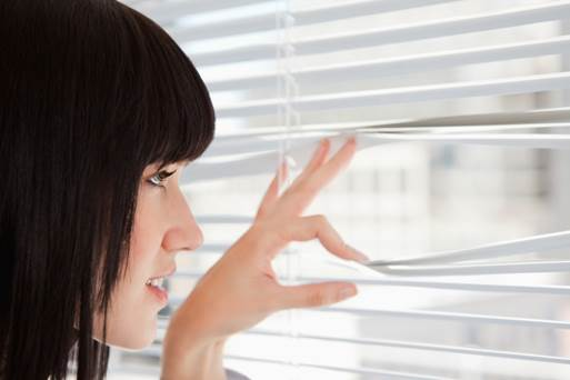 Looking out the window can be a way to soothe stress.