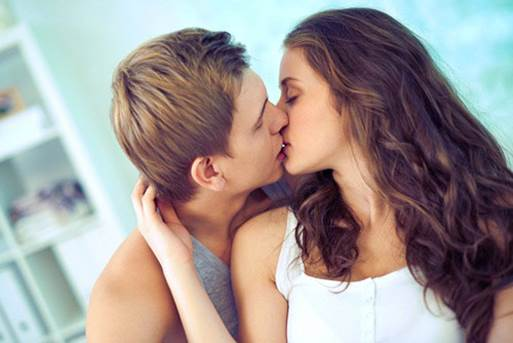 1 or 2 kisses a day can bring stress away.