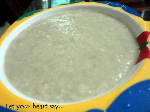 The clam and spinach gruel is simple but, has plenty of zinc which is good for babies who have constipation.