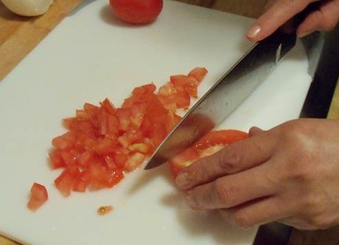 4 large tomatoes, diced