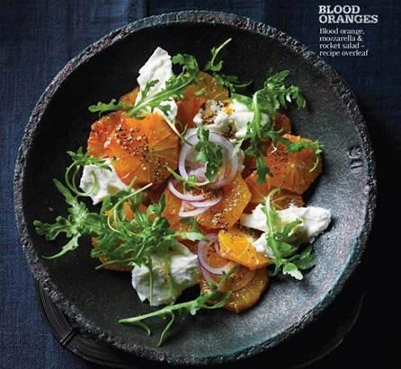 Blood orange, mozzarella & rocket salad