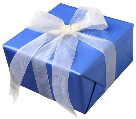 Description: A present does not need to be wrapped in a box.