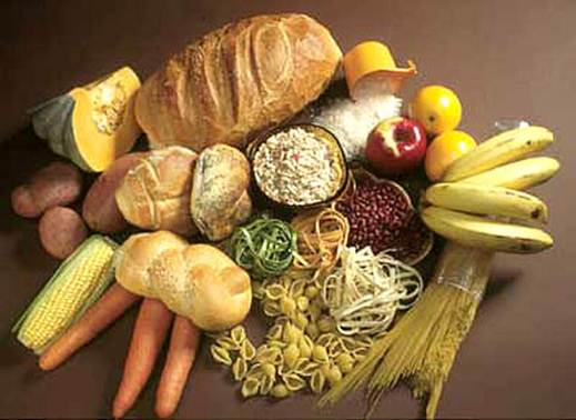 Description: foods rich in carbohydrate