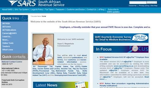 Description: www.sars.gov.za