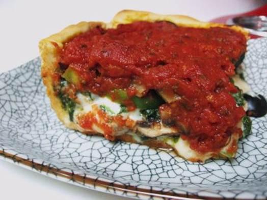 Description: Deep-Dish Veggie Pizza