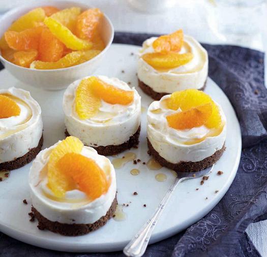 Description: Citrus cheesecakes