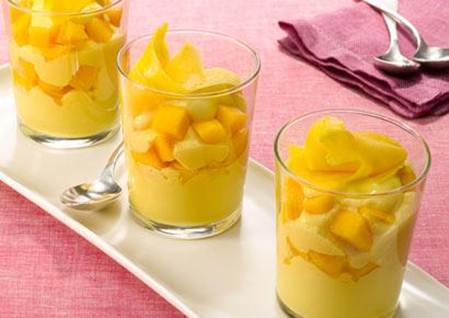 Description: Mango, honey and cream fool