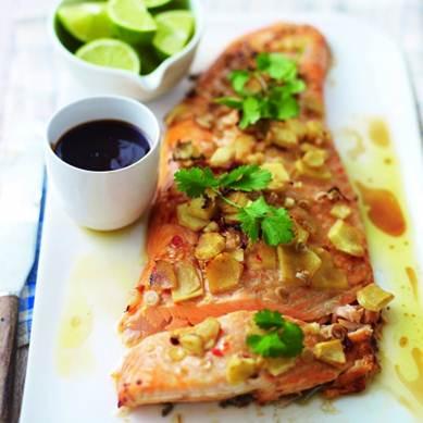 Description: Ginger and lemongrass salmon