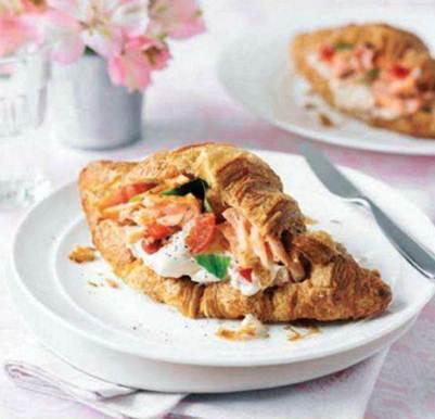 Description: Salmon-filled croissants