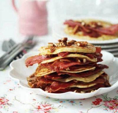 Description: Bacon and maple pancakes