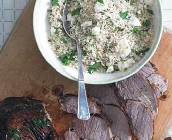 Description: Description: Moroccan-spiced lamb and couscous