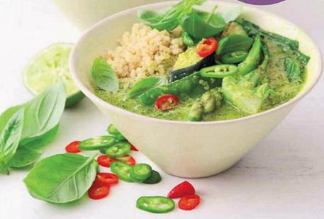 Description: Thai green curry with quinoa