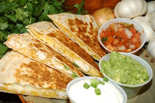 Description: Chicken quesadillas