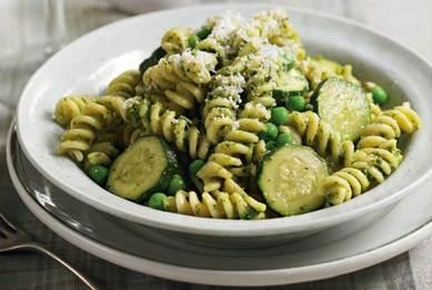 Description: Description: Pesto fusilli with courgettes