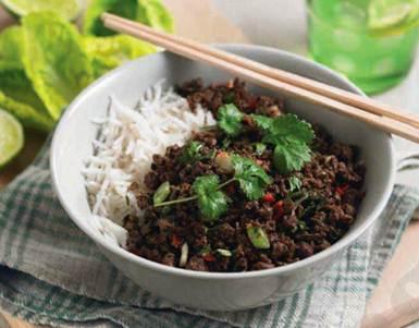 Description: Description: Thai-Style Quorn mince with lettuce