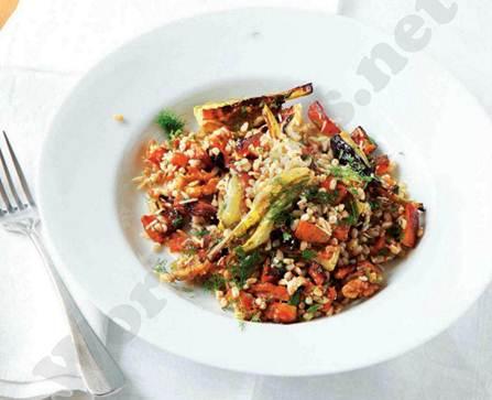 Description: Spelt salad with squash and fennel