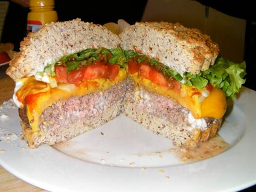Description: Juicy Cheddar Cheeseburgers