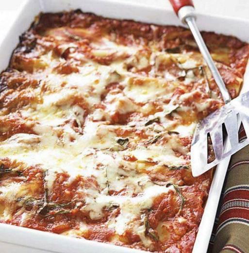 lasagna with turkey meatballs