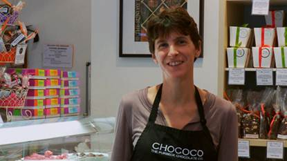 Description: Claire Burnet, co-owner of Chococo