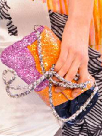 Description: Put on the glitz this season with glitter-coated accessories that are guaranteed to turn heads