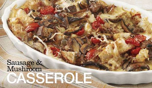 Description: Sausage & Mushroom CASSEROLE