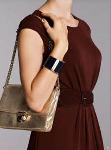 Description: 1. Dress, $149,byTrenery;belt, $49, by David Lawrence; cuff, $59, by Saba; bag, $89.95, by Seed.