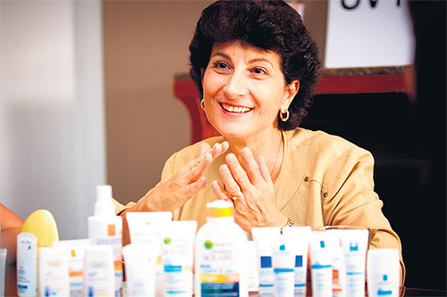 Description: L'Oreal scientist, Dr Dominique Moyal specialises in research on UV rays and sunscreen efficacy