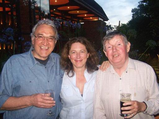 Description: Mannie Manim, Lara Foot and John Slemon at Mannie's farewell